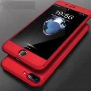 Husa Apple iPhone 8 Plus FullBody Elegance Luxury Red acoperire completa 360 grade cu folie de sticla gratis