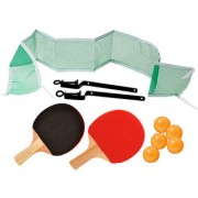 SHRIBOSSJI PING PONG TABLE TENNIS SET WITH 2 PADDLES 5 BALLS NET WITH STAND WITH BEST QUALITY( MULTICOLOR)