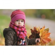 EJA Art Cute Baby Boy in Winter Autumn Without Frame Paper Poster/ Size 30X45 cms (With 12 Butterfly Free)
