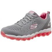 Skechers Women's Skech-Air Rf Grey and Pink Sneakers - 3 UK/India (36 EU) (6 US)