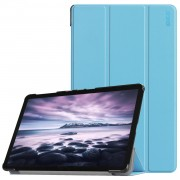 HAT PRINCE Tri-fold PU Leather Stand Smart Cover Shell for Samsung Galaxy Tab A 10.5 (2018) T590 T595 - Baby Blue