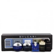 Bvlgari Blv Gift Set By Bvlgari Travel Size Gift Set Includes Bvlgari Aqua Atlantique, Aqua Pour Homme, BLV, Man Wood Essence, Man in Black all in .17 oz sizes