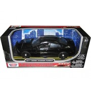 2011 Dodge Charger Pursuit Slick Top Unmarked Black Police Car 1/24 by Motormax 76953