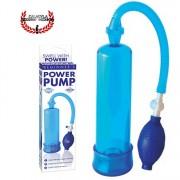 Bomba 19cm de Succión Básica Azul Para pene Pipedream beginners power pump