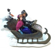 Disney Parks Frozen Sleigh with Anna Olaf Kristoff Plastic Wind Up Figurine