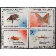 Dominicana 1999 Butterfly Butterflies Insects Fauna Animals se-Tenant 4v MNH