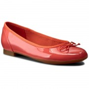 Балеринки CLARKS - Couture Bloom 261227794 Coral Patent