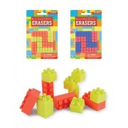 Building Block Erasers for Kids Fun Erasers for Boys & Girls. 24 Blocks (pcs) Total