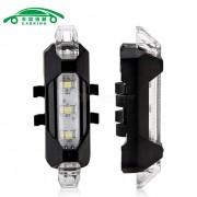 Luz de advertencia de seguridad de carga LED USB MTB roadbike portatil luz de advertencia