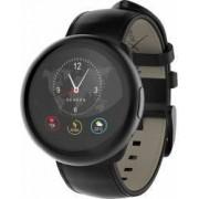 Smartwatch ZeRound 2 HR Premium + Curea Piele Negru