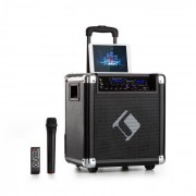 "Auna Moving 80 PA-anläggning 8"" woofer 35 / 100 W (max) VHF-mikrofon USB SD BT AUX mobil"