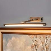 Lampenwelt.com Merte - applique tableau LED en nickel mat - LAMPENWELT.com