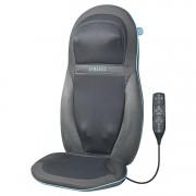 Husa de scaun cu masaj Shiatsu, Homedics pentru spate si umeri cu gel, SGM-1600H-EU, 6 programe presetate, functie caldura, telecomanda, Gri