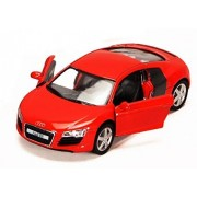 Kinsmart Audi R8 Die Cast Car with Openable Doors, Multi Color