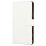 Bolsa em Pele para Sony Xperia Z5, Xperia Z5 Dual - Tipo Carteira - Branco