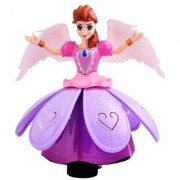 Princess Dancing Doll Rotating Angel Girl Flashing Lights with Music (Multicolor)