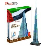 Puzzle 3D Cubic Fun - Burj Khalifa, Dubai, 136 piese (Cubic-Fun-MC133H)
