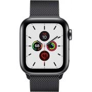 Apple Watch Series 5 40mm (GPS + Cellular) Stainless Steel Space Black Milanese Loop Band Negru