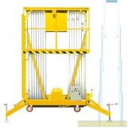 Személyemelő szerelő kosár, 11 méteres munkamagasság, hálózati elektromos emelés, kézi mozgatás