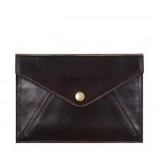 Maxwell-Scott dunkelbraune Damen Reisemappe aus Leder - Ortona - Reisedokumententasche, Reisebrieftasche, Reisepasscover, Reisepassetui