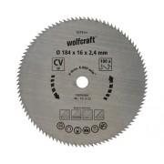 Disc fierastrau circular Wolfcraft Ø184x2,4x16 mm 100 dinti