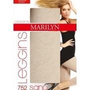7/8-leggings utan mönster Sand, 120 DEN beige/melange S/M