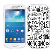 Husa Samsung Galaxy S4 Mini i9190 i9195 Silicon Gel Tpu Model Coffee Text B&W