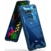 Husa LG G8 ThinQ Ringke FUSION X Transparent Albastru