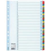 Regiszter, laminált karton, A4, 1-31, ESSELTE Mylar (E100164)