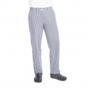 Whites Chefs Clothing Whites Womens Chef Trousers Blue and White Check 28in Size: 28