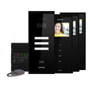 Kit videointerfon Electra Touch Line Smart+ VKM.P3SR.T3S4.ELB04, 3 familii, aparent, 3.5 inch