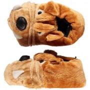 Merkloos Bulldog honden sloffen voor kinderen