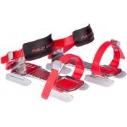 Nijdam skridskor med dubbla skenor röd/silver/svart - För uthyrning/förskolor/skolor/föreningar