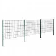 [pro.tec] Drótkerítés kerítés panel kétdimenziós gyári kerítés szett 6 x 1,2 m oszloppal zöld