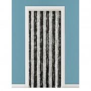 Geen Grijs/zwart anti insecten kattenstaarten gordijn 90 x 220 cm