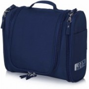 Kuber Industries Canvas Toiletry Kit Bag for Women and Men for Travel, Shaving kit Bag for Men, Travel Pouches for Women for Cosmetics and Makeup (Blue) -CTKTC38997 Travel Toiletry Kit(Blue)