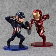 2pcs/Set 12 cm Captain America Vs. Iron Man The Legends Civil War Toy Figure Set