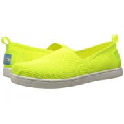 TOMS Knit Alpargata Espadrille (Little KidBig Kid) Neon Yellow Mesh