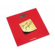 Кантар за измерване на телесно тегло INNOLIVING INN-119R - червен