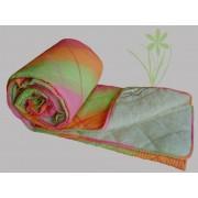 Prekrivač krep-veštačko krzno roze, zelena, narandžasta - Stefan