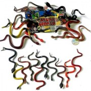 FC The Small Rubber Snake Anaconda Snake Toy Rainforest Snakes 10 Counting Prank Snake Toys