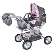 Knorrtoys Knorr Toys Knorr10410 Twingo S Combi Rock Star Rhinestone Grey Doll Pram and Buggy