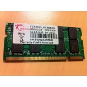 G.Skill DDR2 Series F2-5300CL5S-2GBSQ - Mémoire - 2 Go - SO DIMM 200 broches - DDR2 - 667 MHz / PC2-5300 - CL5 - 1.8 V - mémoire sans tampon - NON ECC
