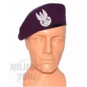 Beret szyty wojskowy bordowy z orzełkiem