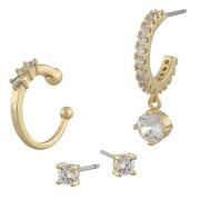 Snö Of Sweden Luire Cuff Earring Mix 1, Gold/Clear
