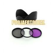 52mm UV CPL FLD Filter Kit + lens hood for NIKON D5000 D5100 18-55MM D3200 D3100