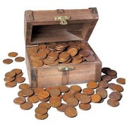 American Coin Treasures Treasure Chest of 1-Pound of Lincoln Wheat-Ear Pennies