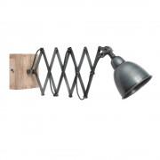 Maisons du Monde Lámpara de pared extensible de metal gris H 13 cm LORIENT