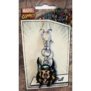 Licenses Products Marvel Comics Retro Thors Head Rubber Zipper Pull Action Figure
