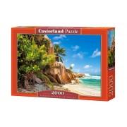 Puzzle Plaja din Seychelles, 2000 piese